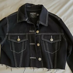 Cropped Dark Jean Jacket